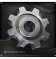 Gear on metal vector image