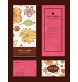 warm fall lineart flowers vertical frame vector image