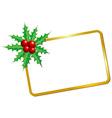christmas blank frame vector image vector image