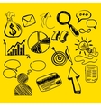 Hand Drawn Search New Business Element vector image