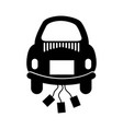 car of newlyweds icon vector image