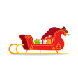 christmas sleigh with presents vector image