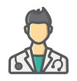 doctor filled outline icon medicine healthcare vector image