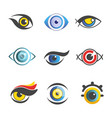 fantastic eyes of unusual color and shape set vector image