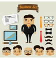 Hipster character elements for business man vector image
