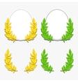 Laurel wreath and ellipse vector image