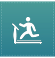 Running treadmill flat icon vector image