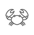 simple crab line icon symbol and sign vector image