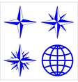 The emblem of the compass rose vector image
