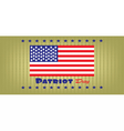 Patriot Day with usa flag and stars vector image