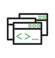 Programming Windows vector image