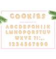 gingerbread alphabet for christmas birthday tea vector image