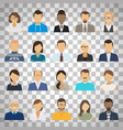 business people avatars on transparent background vector image