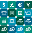 Financial and money icon set vector image