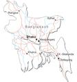 Bangladesh Black White Map vector image