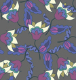 Colorful hand drawn floral seamless pattern vector image