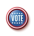 Vote button badge or banner vector image