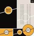 beer pub menu vector image