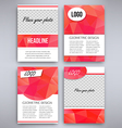 Big set of red triangular design flyer template vector image
