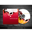 colorful cd cover vector image