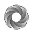 gray iris abstract ring vector image