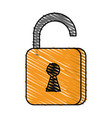 safety key lock vector image