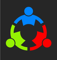 Three People Strong Logo vector image