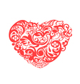 red pattern heart vector image