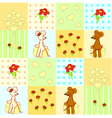 Seamless pattern with cute mouses vector image vector image