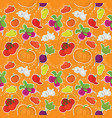 Seamless background vegetables vector image vector image