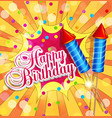 festive background for birthday with firecrackers vector image vector image