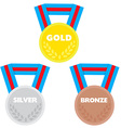3 medals vector image