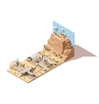 isometric low poly desert airport vector image