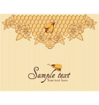 Bees and honeycomb vector image