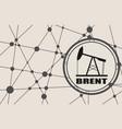 brent crude oil presentation banner vector image