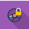 Car Steering Wheel flat icon vector image
