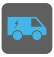 Electric Power Car Rounded Square Icon vector image