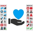 Heart Charity Icon vector image