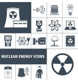 Nuclear energy icons set black vector image
