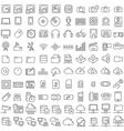One hundred icons of electronics and digital vector image