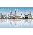 Saudi Arabia Skyline with Landmarks Blue Sky vector image
