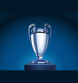 shining silver cup on a stage vector image