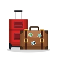 suitcase bags isolated icon vector image