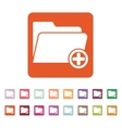 The add to folder icon Data and directory vector image