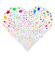 index finger fireworks heart vector image