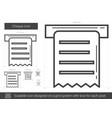 cheque line icon vector image