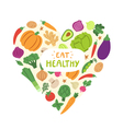 Eat healthy vector image vector image