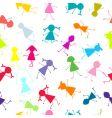 kids seamless pattern vector image vector image