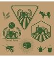 Set of retro farm labels vector image