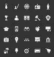 SME icons on gray background vector image